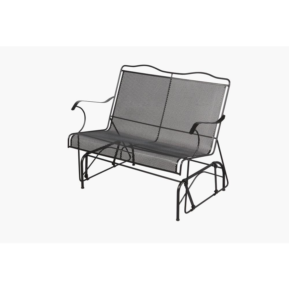 Amazing Hampton Bay Jackson Patio Loveseat Glider Gmtry Best Dining Table And Chair Ideas Images Gmtryco