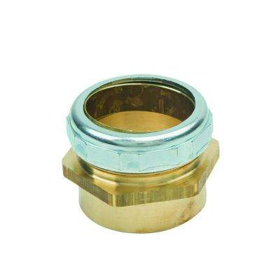 1-1/2 in. O.D. Compression x 1-1/2 in. I.D. Female Sweat Brass Waste Connector with Die Cast Nut in Chrome