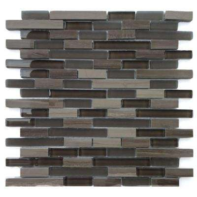 Opera Glass Aria Dark 12 in. x 12 in. x 7.9 mm Glass and Marble Mosaic Wall Tile (10 sq. ft. / case)