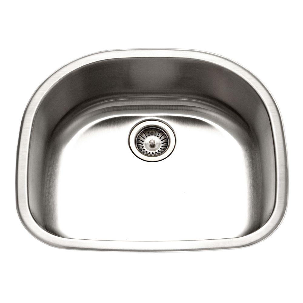 Medallion Designer Series Undermount Stainless Steel 24 in. Single Bowl Kitchen