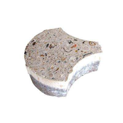 6 in. x 2 3/8 in. Key West Shell Paver Bone with Shells and Abalone (98 sq. ft. per pallet)