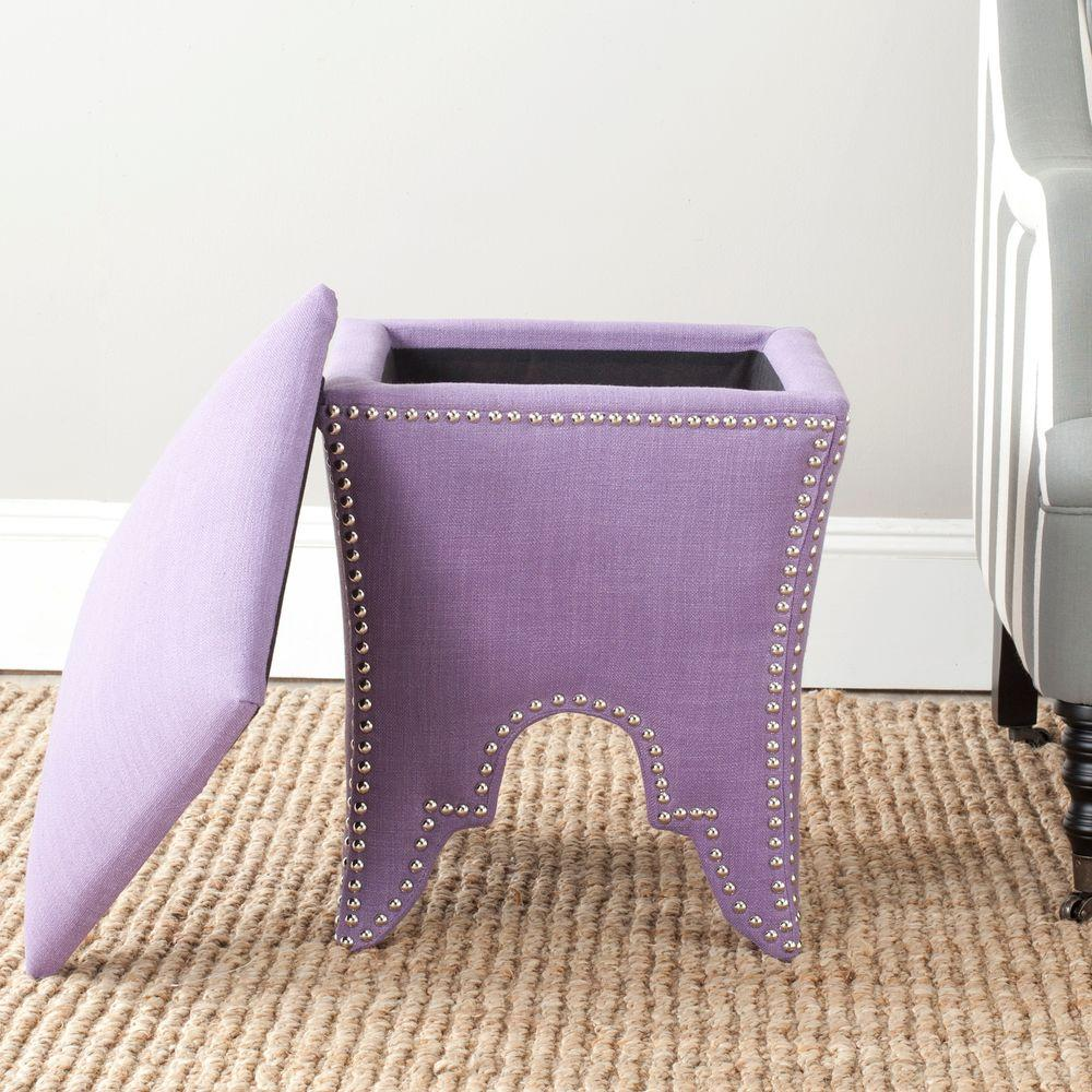 Deidra Lavender Storage Ottoman