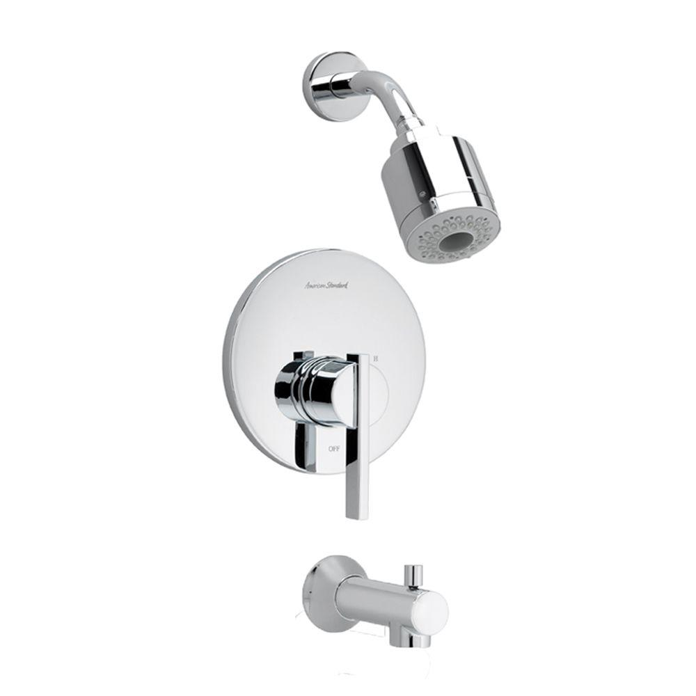 Berwick 1-Handle Tub and Shower Faucet Trim Kit in Polished Chrome