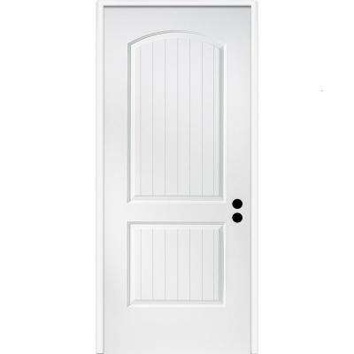 32 in. x 80 in. Cashal Left-Hand Primed Composite 20 Min. Fire-Rated House-to-Garage Single Prehung Interior Door