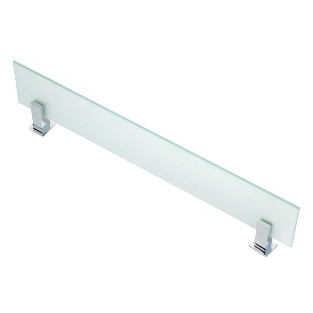 USE Square Bollard Shelf in Glass and Polished Chrome-DISCONTINUED