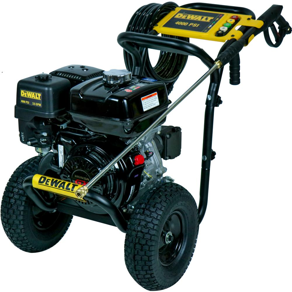 DEWALT 4000 PSI at 3 5 GPM Gas Pressure Washer Powered by Honda with AAA  Triplex Pump - California Compliant