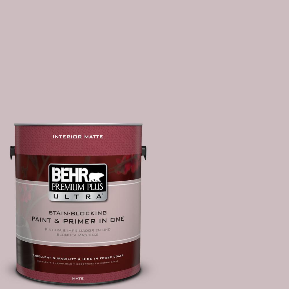 1 gal. #100E-3 Pastel Violet Matte Interior Paint and Primer in