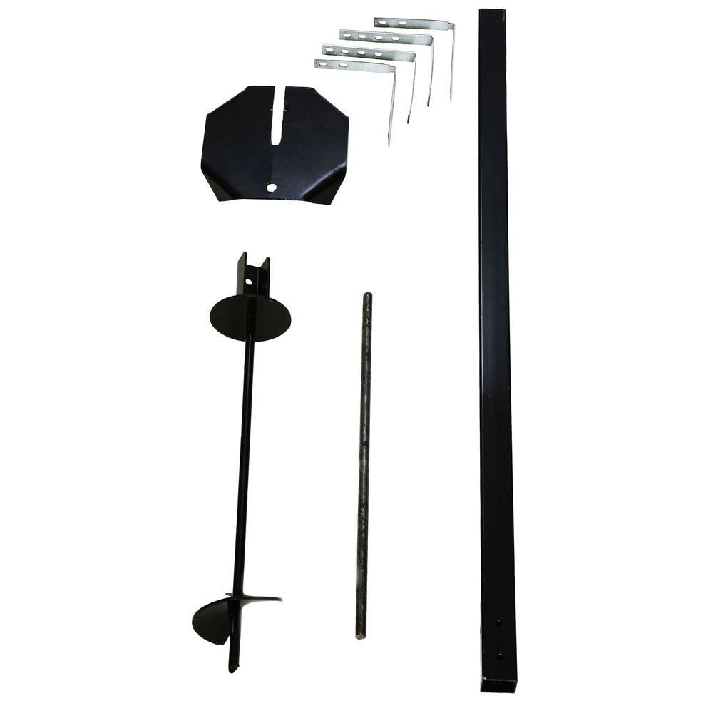 Steel Auger Mailbox Post Kit