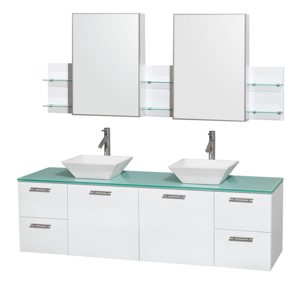 Wyndham Collection Amare 71 in.W Double Bath Vanity Cabinet in ...