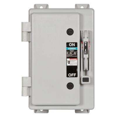 Heavy Duty 60 Amp 600-Volt 3-Pole Type 4X Non-Metallic Fusible Safety Switch with Neutral