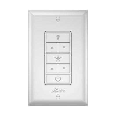 Universal Damp Rated Ceiling Fan Wall Remote Control White