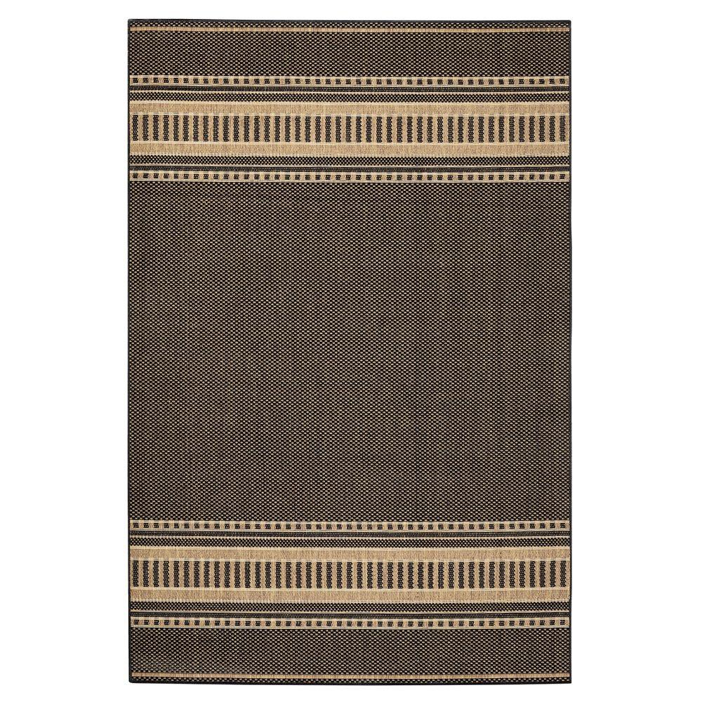 Home Decorators Collection Pueblo Design Black/Cocoa 5 ft. 3 in. x 7 ft. 6 in. Area Rug