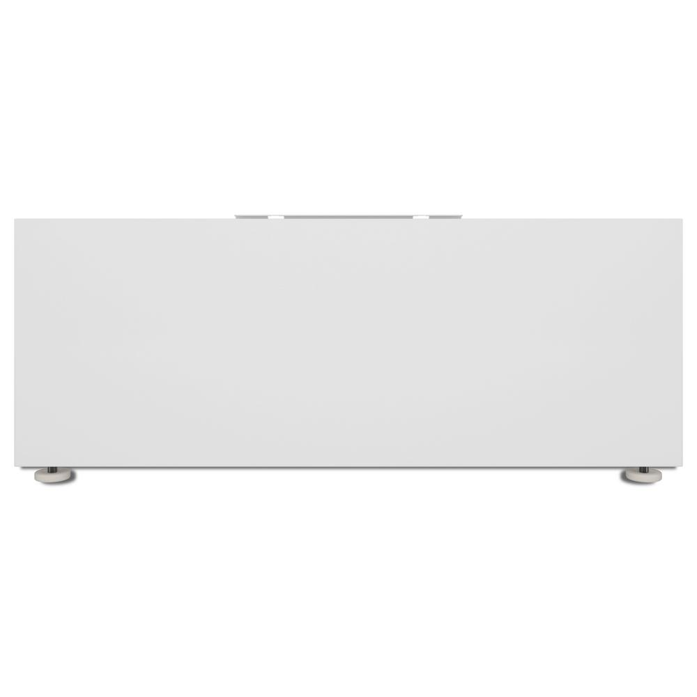 Maytag Co 10 in. White Laundry Pedestal 10 in. Pedestal for Commercial Front Load Washer and Dryer. Raises your washer and dryer to a more comfortable height for loading and unloading. Increases visibility and eases filling of additive dispensers. Color: White.