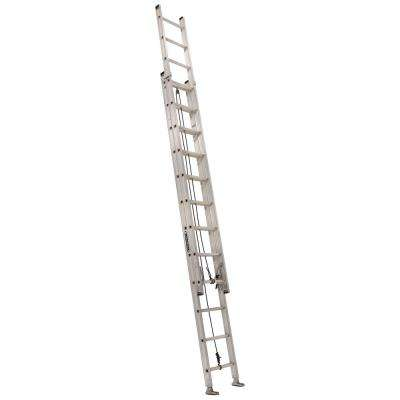 28 ft. Aluminum Extension Ladder with 300 lbs. Load Capacity Type IA Duty Rating