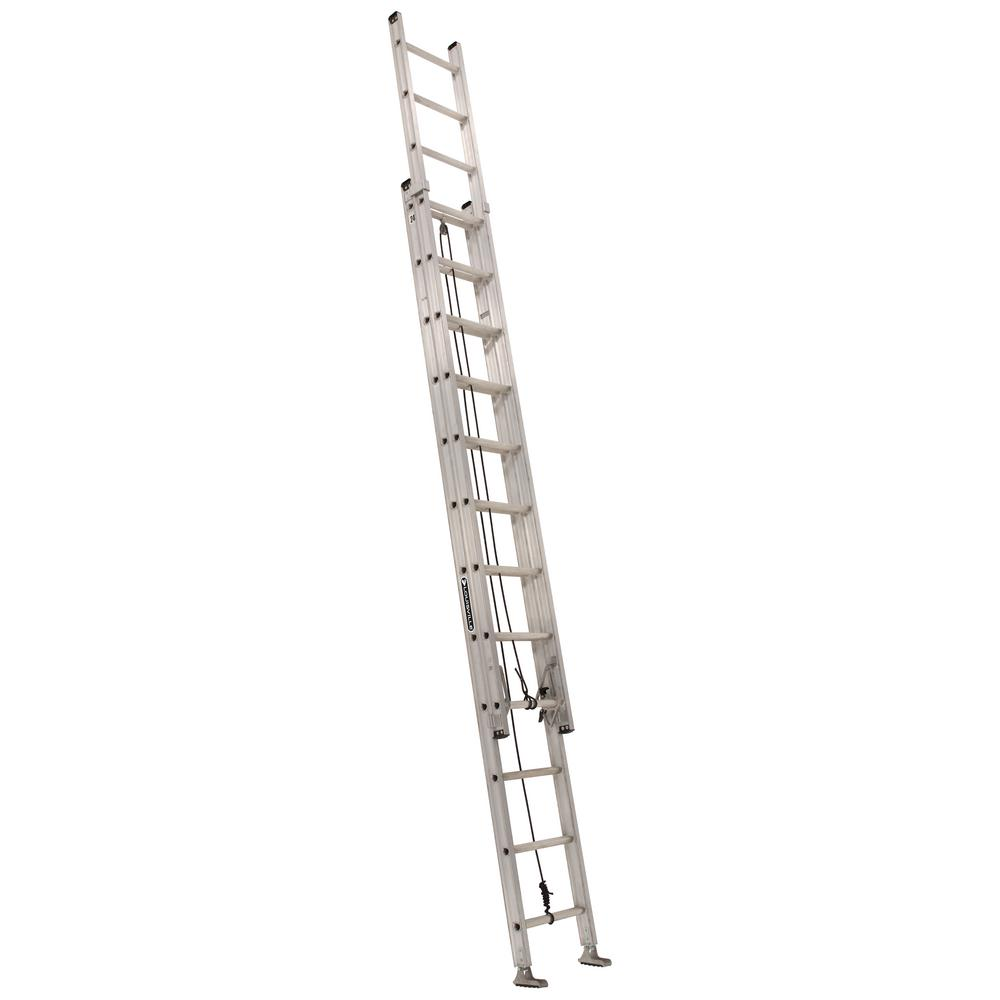 Louisville Ladder 24 Ft Aluminum Extension Ladder With