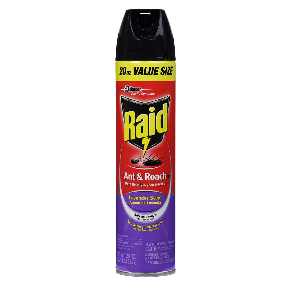 Raid Ant And Roach Killer Lavender Aerosol 645283 The Home Depot