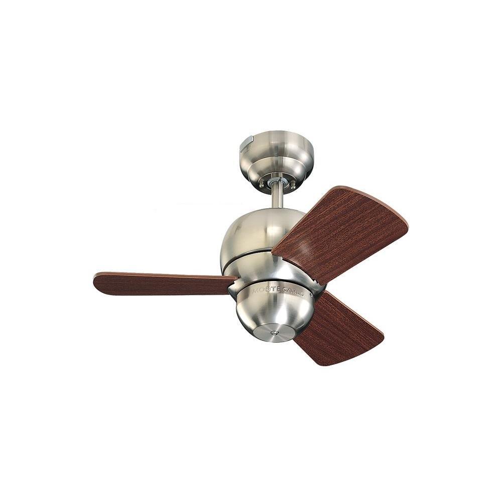 Micro 24 - Brushed Steel Indoor Ceiling Fan