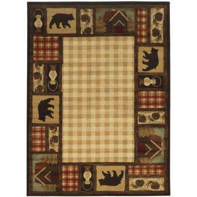 Mountain Top Beige 4 ft. x 6 ft. Area Rug