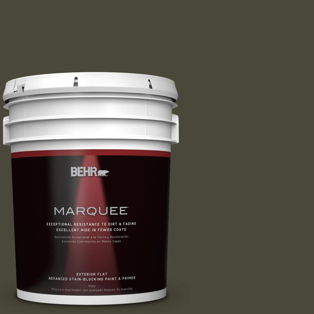 5 gal. #T18-11 Unplugged Flat Exterior Paint