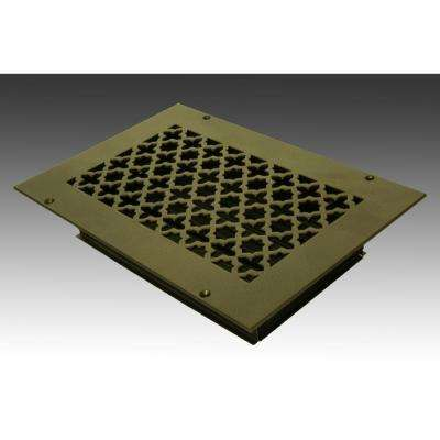 10 in. x 6 in. Oil Rubbed Bronze Poweder Coat Steel Wall Ceiling Vent with Opposed Blade Damper