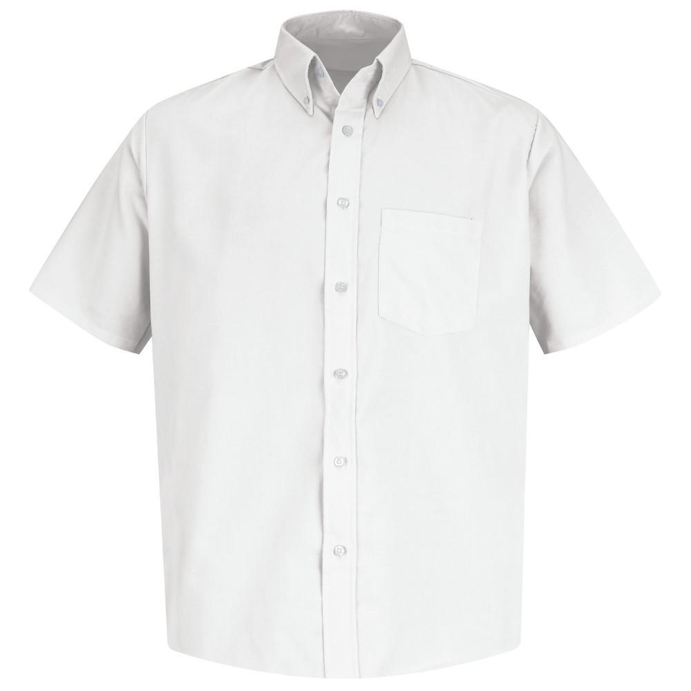 Men's Size 3XL White Easy Care Dress Shirt