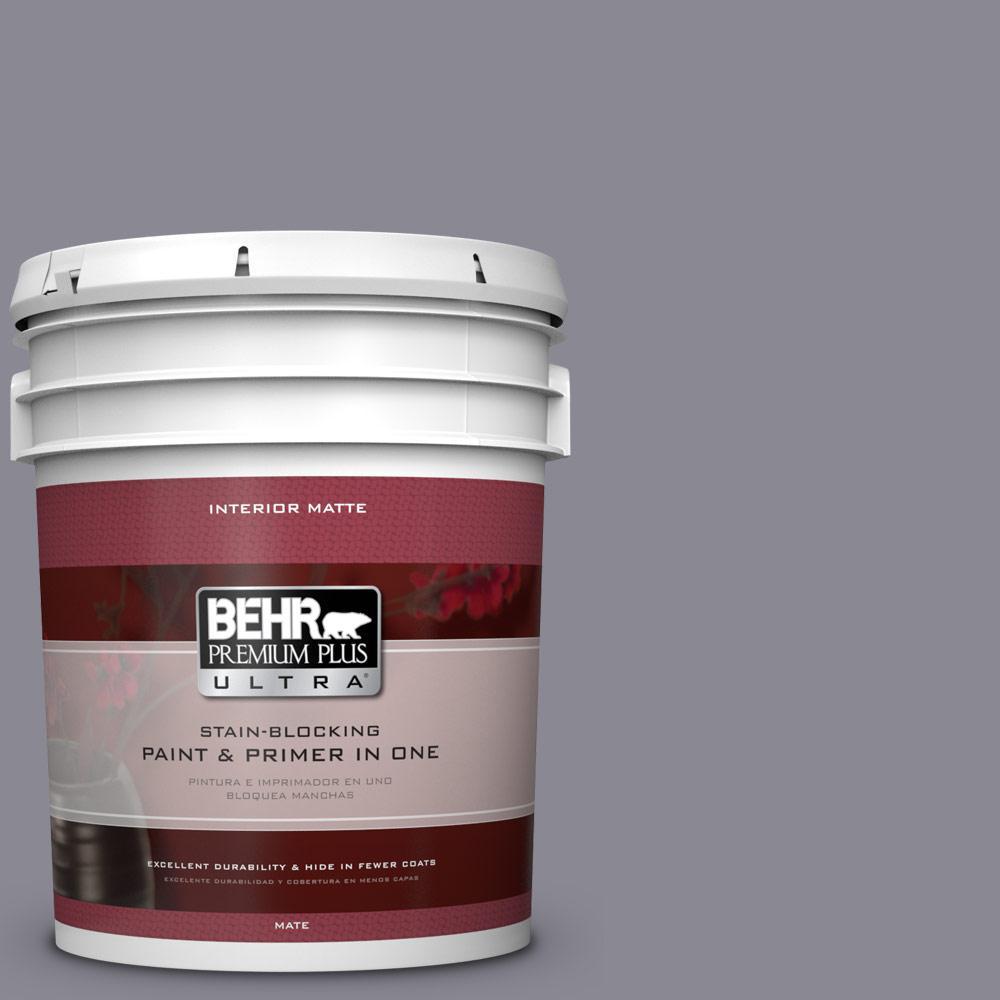 BEHR Premium Plus Ultra 5 gal. #PPU16-15 Gray Heather Flat/Matte Interior Paint