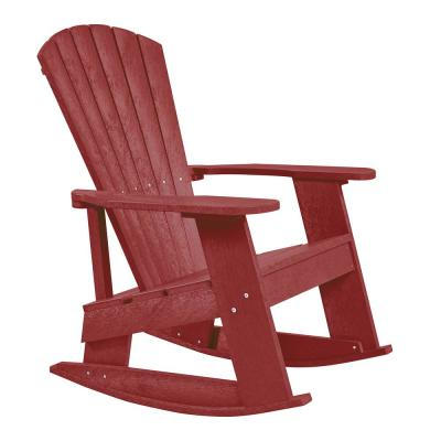 Recycled Plastic Red Rock Outdoor Rocker