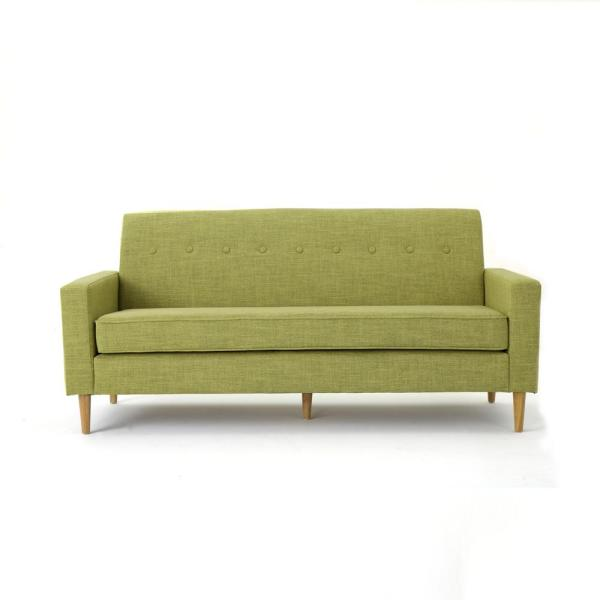 Noble House 3-Seat Muted Green Fabric Sofa 17350 - The Home ...
