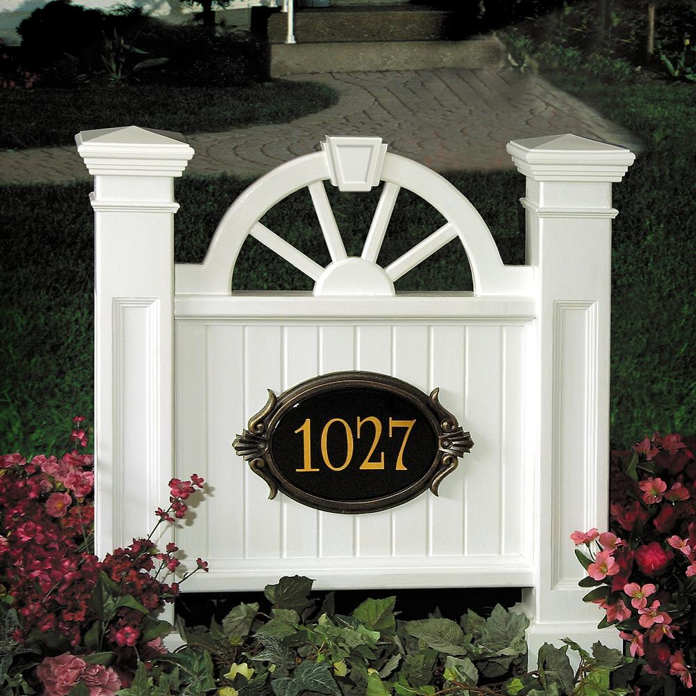 Winchester 38-1/2 in. x 35 in. Plastic Address Sign, White