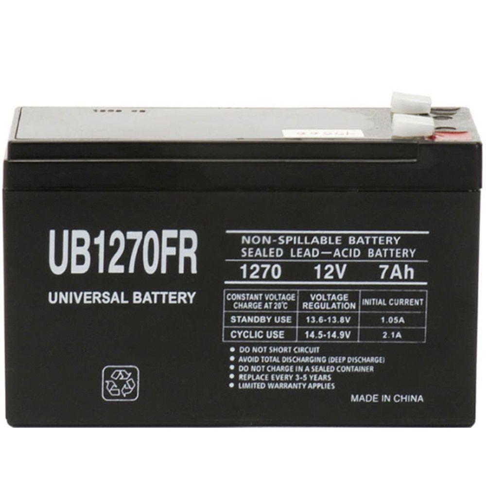 12-Volt 7 Ah F2 Terminal Sealed Lead Acid (SLA) AGM Rechargeable Battery