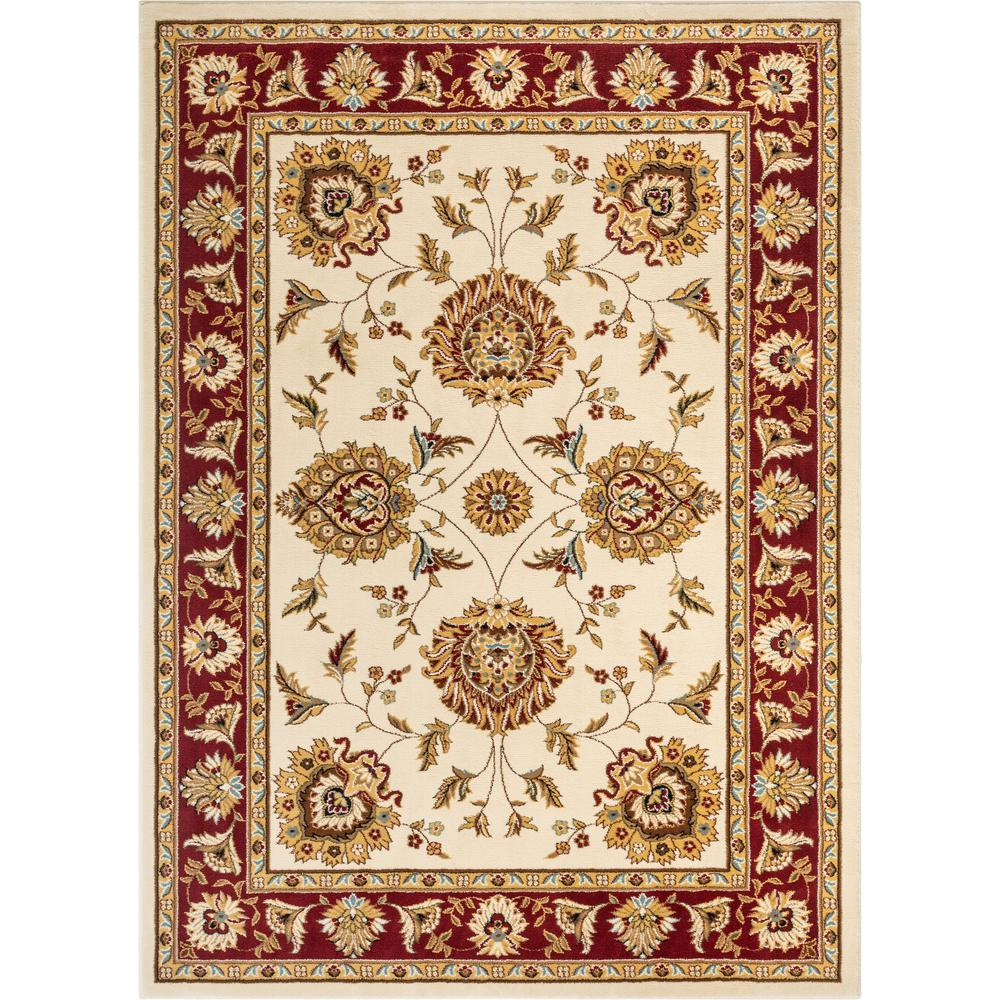 Well Woven Timeless Abbasi 9 Ft X 13 Ft Traditional Oriental Ivory Area Rug 36028 The Home Depot