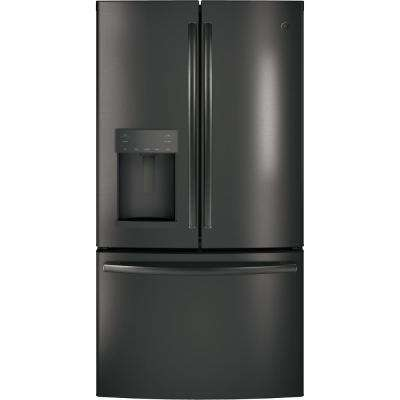 Adora 27.8 cu. ft. French Door Refrigerator with Hands Free Autofill in Black Stainless Steel, Fingerprint Resistant