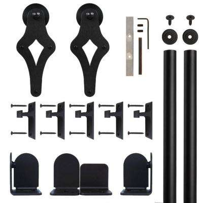 Palm-Leis Black Rolling Door Hardware Kit for 3/4 in. to 1-1/2 in. Door