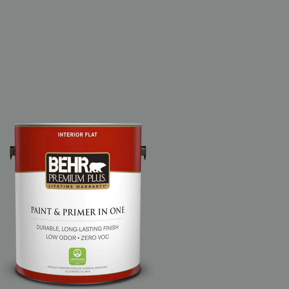 1 gal. #PPU25-17 Euro Gray Zero VOC Flat Interior Paint