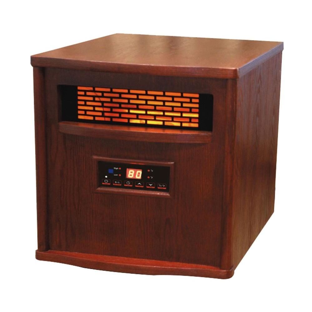 Estate Design Liberty 13 in. Infrared Electric Fireplace in Nutmeg-DISCONTINUED