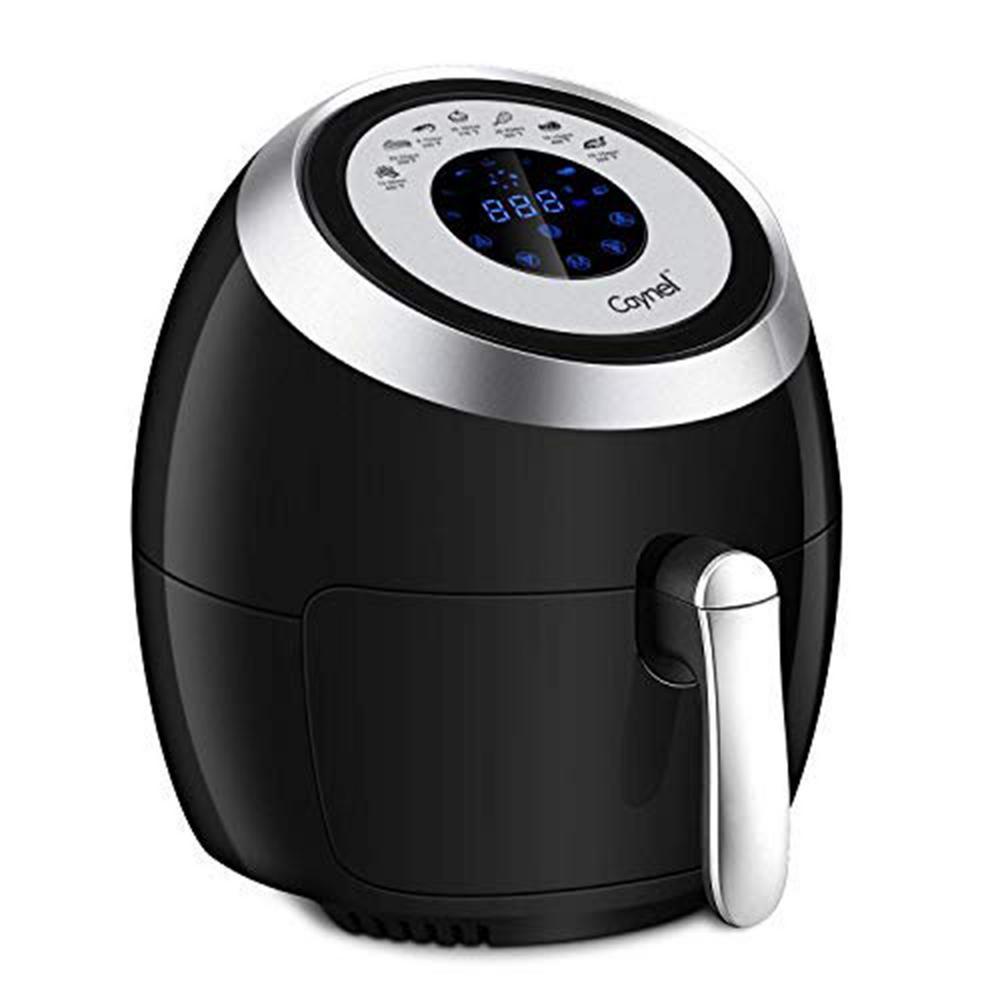 4.2 qt. 1500-Watt Black 5 l Frying Pot Digital Air Fryer XL Touchscreen Double Basket