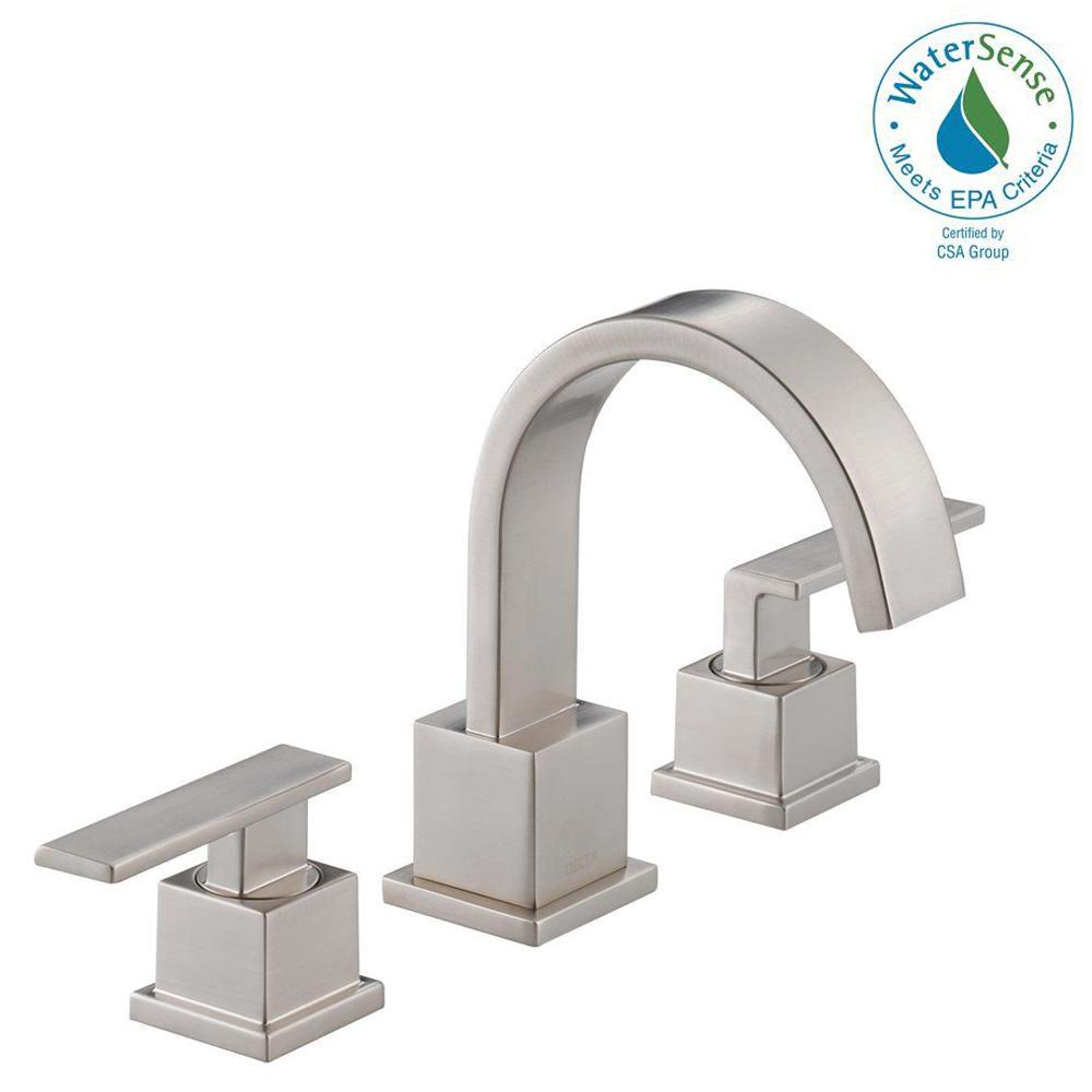 Delta vero 8 in widespread 2 handle bathroom faucet with - Delta bathroom sink faucet installation ...