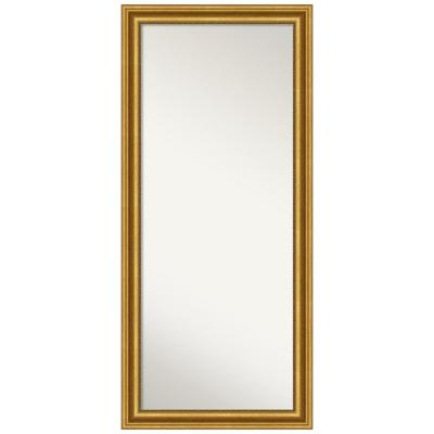 Oversized Antique Finish Wood Classic Mirror (65.62 in. H X 29.62 in. W)