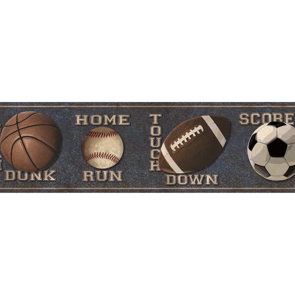 Chesapeake Slam Dunk Sports Toss Wallpaper Border