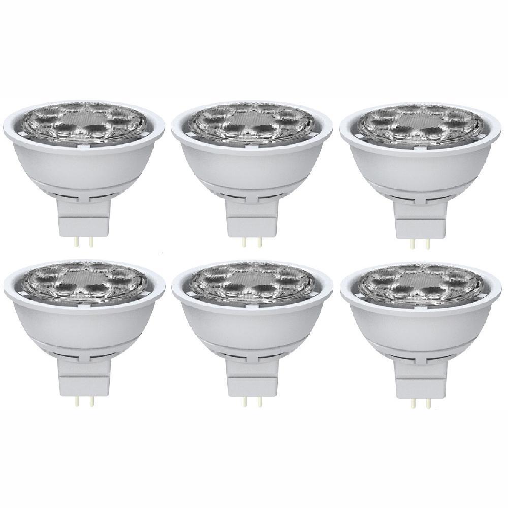 50-Watt Equivalent MR16 Dimmable Wide Flood Daylight LED Light Bulbs (6-Pack)