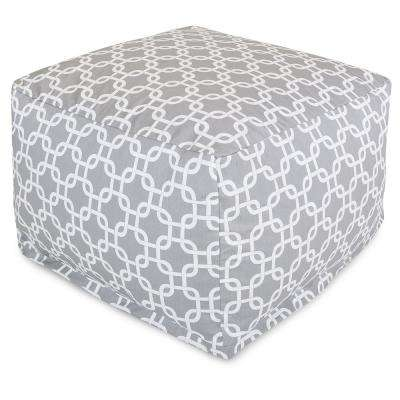 Gray Links Outdoor Ottoman Cushion