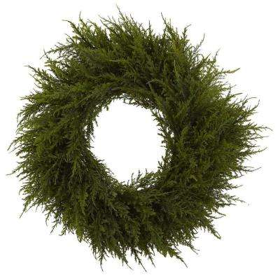 24 in. Cedar Wreath