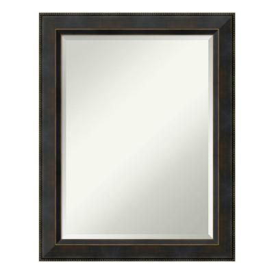 Signore 23 in. W x 29 in. H Framed Rectangular Beveled Edge Bathroom Vanity Mirror in Bronze