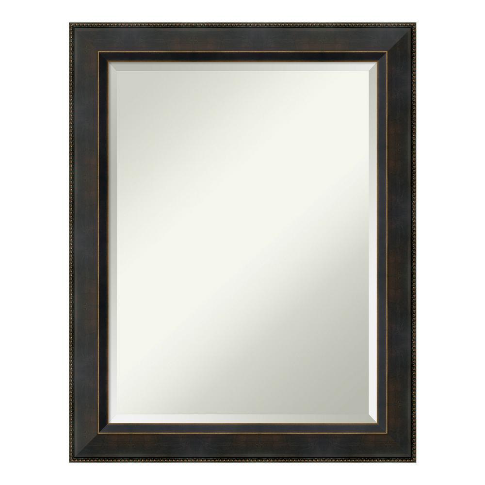 Signore 23 in. W x 29 in. H Framed Rectangular Beveled Edge Bathroom Vanity Mirror in Bronze