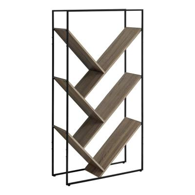 Dark Taupe Bookcase 60 in. High 5-Shelves