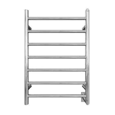 Comfort 7-31 in. Hardwired Electric Towel Warmer and Drying Rack in Chrome