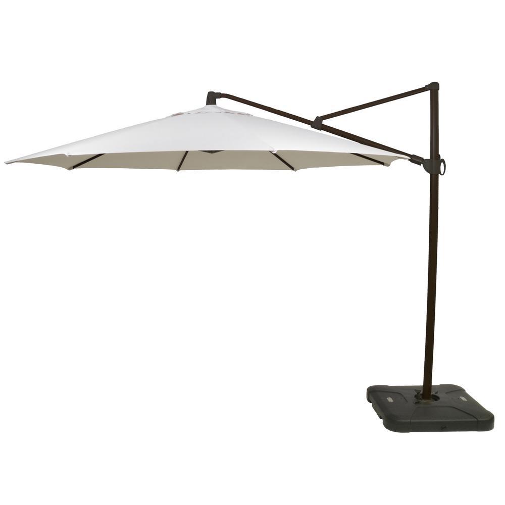 11 ft. Aluminum Cantilever Tilt Patio Umbrella in Off White