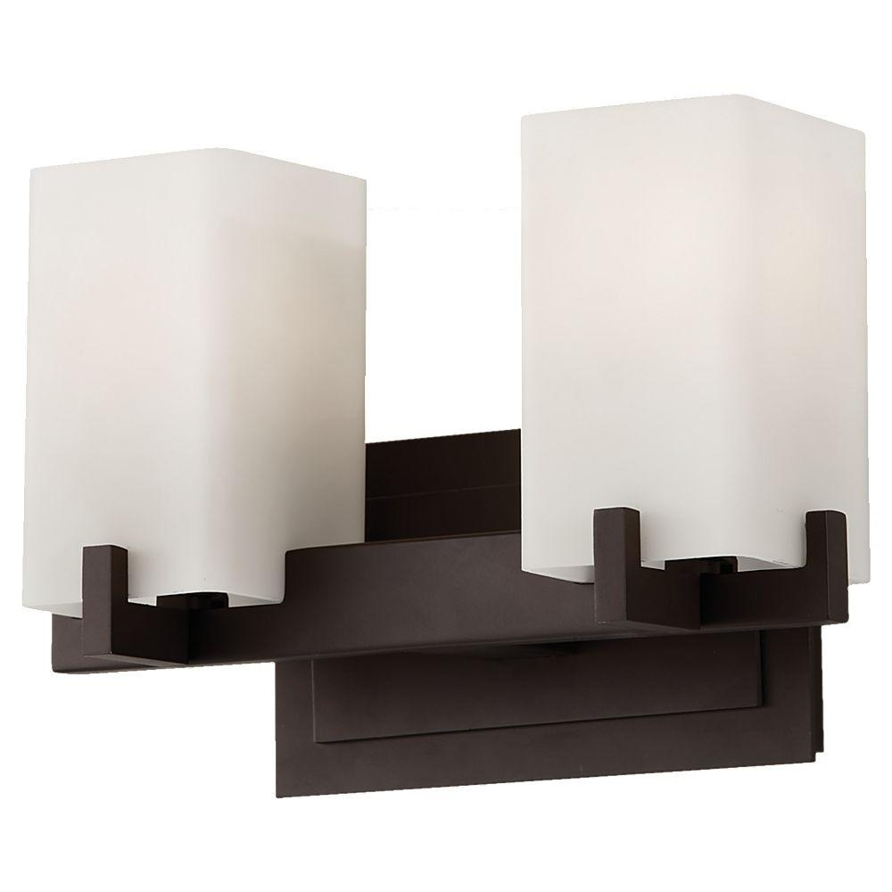 Feiss Riva 2-Light Oil Rubbed Bronze Vanity Light