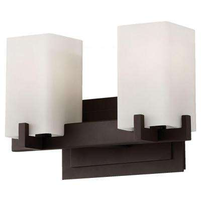 Riva 2-Light Oil Rubbed Bronze Vanity Light