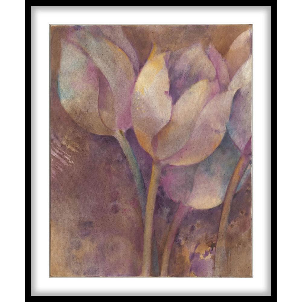 "9.75 in. x11.75 in. ""Moonlit Tulips I""Framed Wall Art"